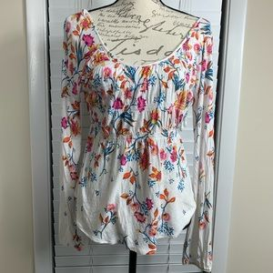 Free people peasant floral blouse